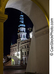 Zamosc at night - Poland - Old town of Zamosc at night It is...