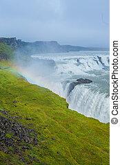 Gulfoss - golden falls. Icaland - Gullfoss big and beauty...