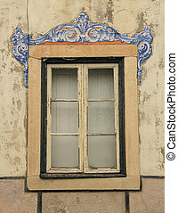window - The window of the old building in Lissabon the...