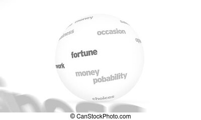 3d Opportunities word Sphere - Flying words forming a 3d...