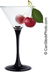 Cocktail with cherry Illustration