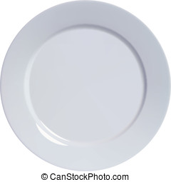 Plate empty, isolated. Vector