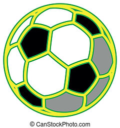 soccer ball - Brazil football team soccer ball isolated on...