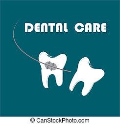 dental care over blue  background vector illustration