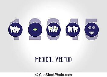dental care over  gray background vector illustration
