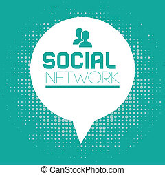 social media  over blue background vector illustration