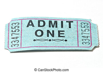 Admit One - Closeup shot of a generic admission ticket