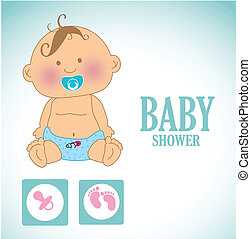 baby design over blue    background vector illustration