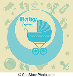 baby design over pink  background vector illustration