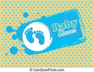 baby design over dotted  background vector illustration