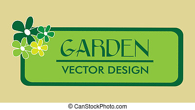 garden design over beige background vector illustration