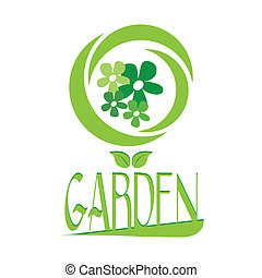 garden design - garden design over white background vector...