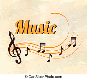 musical design over  pattern  background vector illustration