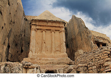Tomb of Zechariah Jerusalem, Israel - The monument is a...