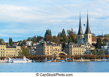 old town of Lucerne, Switzerland - Panoramic view of old...