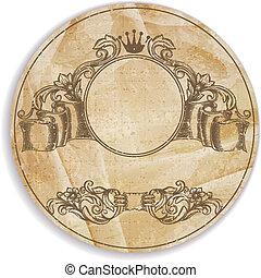 Vintage label with design elements