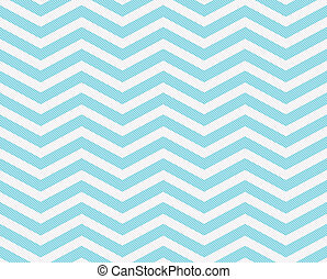 Teal and White Zigzag Textured Fabric Background that is...