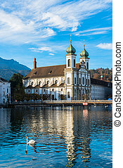 Jesuit church in Lucerne, Switzerland