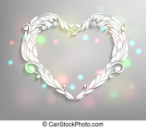 Happy Valentines Day Card Design. Ornamental heart.14...