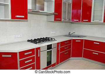 kitchen - Elegant kitchen in a modern house