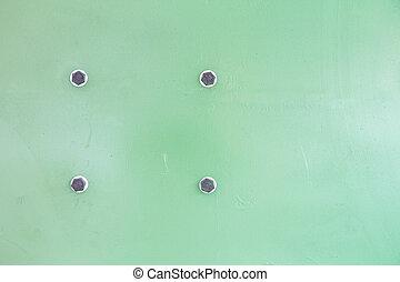steel sheet - background of green steel sheet. Industrial...