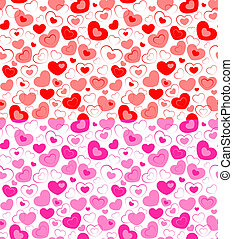 Dual seamless hearts pattern - Vector illustration - dual...