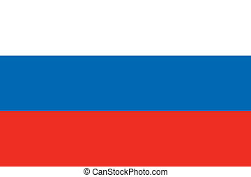 Russia flag - Vector Russian Federation flag