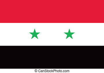 Syria flag - Vector Syrian Arab Republic flag