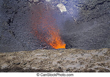 Red Hot Magma - Well, Ok, not red, hot orange magma on the...