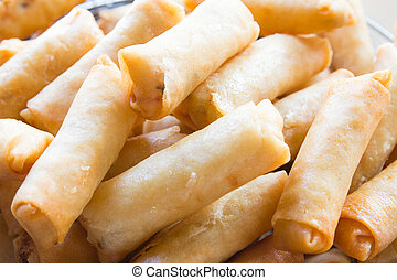 Spring rolls food - Fried Chinese Traditional Spring rolls...