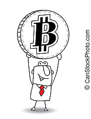 average exchange rate of Bitcoin - the business man is...
