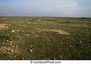 Steppe grassland, black sea coast, Bulgaria