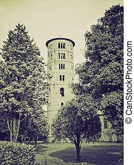 Vintage sepia St Apollinare in Classe, Italy - Retro sepia...