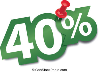 Forty percent sticker