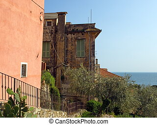 Cervo - Landscape in Cervo Imperia, Italy, a typical...