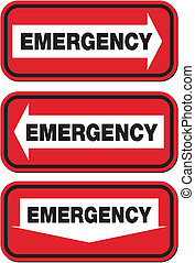 emergency signs - red signs