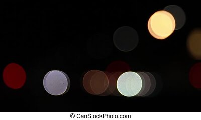 Street lights - A shot of street lights out of focus