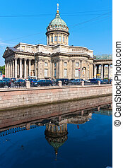Saint Petersburg - Beautiful view of Kazan Cathedral in...
