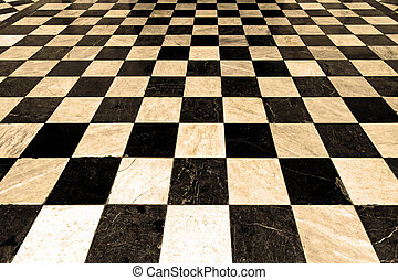 Sepia checkers - Black and white checkers pattern in sepia...