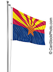 3D Arizona Flag - Rendering of flag of the US state of...