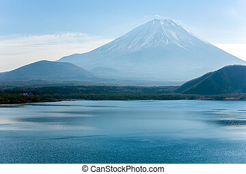 Motosu lake Fujisan Japan - Mountain Fuji fujisan with...