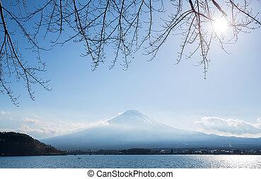 Mountain Fuji with kawaguchigo lake - Mountain Fuji fujisan...