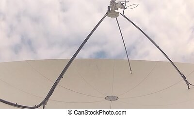 We?ve got the right frequency - A satellite antenna...