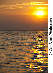Sunset in the sea.