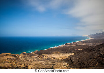 Cofete Beach - a high view of cofete beach in fuerteventura...