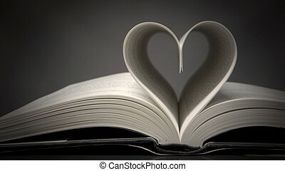 book with heart shape