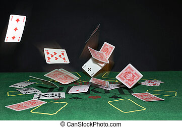 voando, Cartões