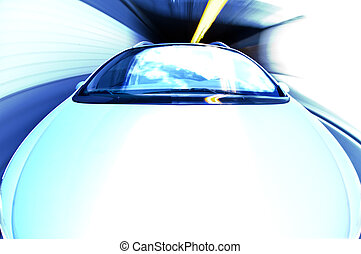 Exiting a Tunnel at high speed - A car exiting a tunnel The...