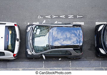 Confined Parking Space - The modernday hassle of finding a...