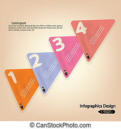 colorful presentation template with numbers and place for your text.